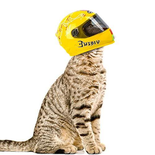terferein Pet Casco Modello, Cat Moto Puntelli Foto con ad Alta Definizione e l'obiettivo Solido Regolabile, Durevole, Reale Casco Simulazione, Vestito per Gatti, Ornamenti e Giocatto