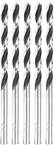 AGT Holzbohrer: Bohrer-Set für Holz, 3 mm, 5 Stück (Bohrerset für die Werkzeug-Kiste)