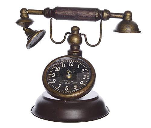 zeitzone Tischuhr Retro Nostalgie Telefon Antik-Stil Uhr Altes Telefon Vintage