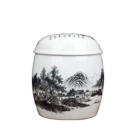 ANFF-urns Andenken Erwachsener Keramik Urnen Asche Der Einäscherung Schatulle Asche Kanister Feuchtigkeitsgeschützte Box Funeral Supplie Vorratsgläser,K-24 * 21cm -