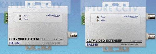 J7B - ACTIVE 1 ch BALUN Sender/Empfänger überträgt ein SIGNAL VIDEO bis 1,2 km über CAT5 Kabel Balun Sender