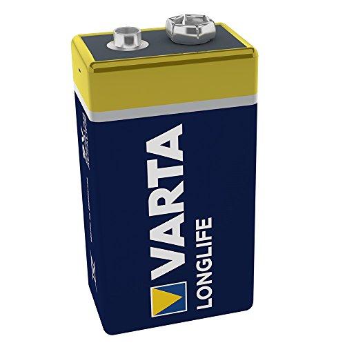 Varta Longlife Batterie 9V Block Alkaline Batterien 6LP3146-1er Pack (Design kann abweichen)