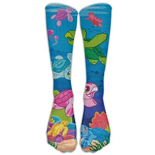 Gped Kniestrümpfe,Socken Long Honu Ohana Socks Women's Winter Vintage Cotton Wool Knit Long Crew Socks Length 50CM