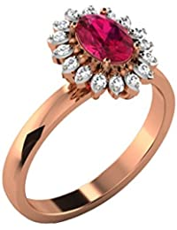 His & Her 9KT Gold, Diamond And Ruby Ring For Women