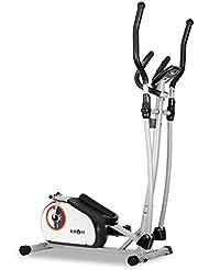 Klarfit ELLIFIT Basic 10 Bicicleta elíptica (para un Peso Corporal máximo de 100 kg, 22 kg de Peso, con pulsómetro, zancas Antideslizantes, Pantalla LCD) - Gris