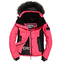 Superdry - Snow Veste de Ski pour Femmes (Rose) - XXS