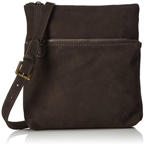 Timberland Damen Multifunction Bag Tan Umhängetaschen, 26x27x4 cm Braun (Black Coffee)