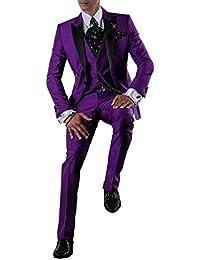 Suit Me Hombres 3 piezas de traje de negocios smoking trajes chaqueta pantalones chaleco