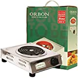 ORBON 2000 Watt Mini Steel With ON-OFF Indicator G Coil Stove Hot Plate Induction Cooktop/Induction Cookers/Electric Cooking Heater/Induction Radient Cooktop ( MADE IN INDIA )( HUGE DIWALI DISCOUNT & FREE SHIPPING )
