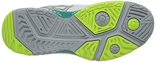 Asics Gel-resolution 6, Scarpe Da Tennis Da Donna Bianche (bianco / Verde Smeraldo / Argento 188)