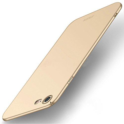Meimeiwu Alta Qualità Ultra Sottile Leggera [Morbido tocco] Antiscivolo Duro PC Shell Slim Custodia Per iPhone 8 - Oro Oro