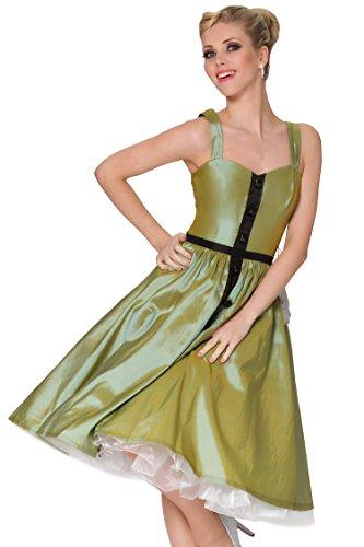 Se?oras SEXYHER Tirantes de 1950 del estilo del vintage de tafetš¢n con botones delicados vestido clš¢sico -