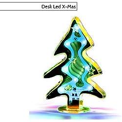 Desk Led X-Mas Lampada Led a forma di alberello di natale Lampada da Tavolo Design USB