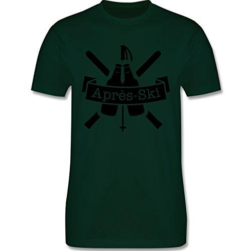 Après Ski - Après Ski Bierflaschen - Herren Premium T-Shirt Dunkelgrün