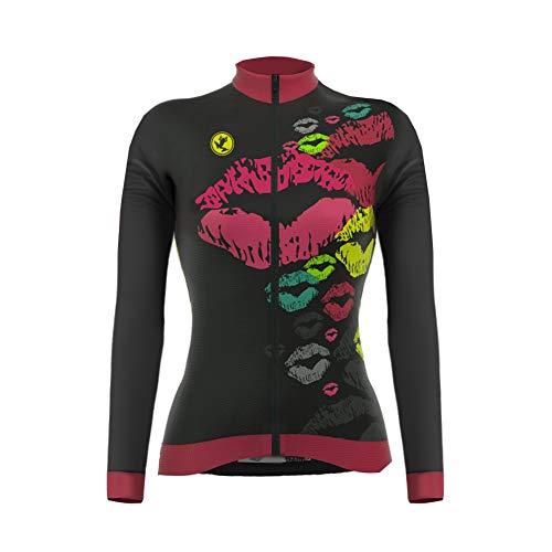 Uglyfrog #02 Maglia da Donna a Manica Lunga per Ciclismo Maglia da Corsa Abbigliamento Casual Camicie Quick Dry Camicie Inverno Warm Cappotto
