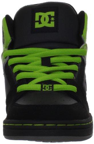 DC Shoes Rebound, Baskets mode garçon Noir (Black/Lime)