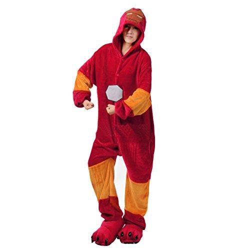 Kostüm Mit Flanell - Cool&D Pyjama Schlafanzug Onesie Jumpsuits Hausanzug Flanell Kostüme mit Schuhe für Herren Damen Kinder