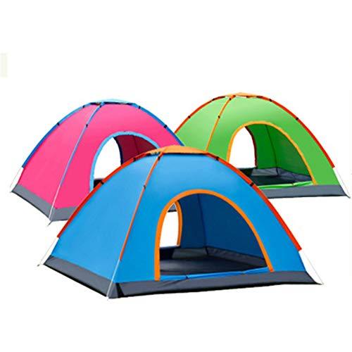 HJUOS Eine Minute, um Camping-Zelt 3-4 Personen Instant-Pop-up-Familie wasserdicht Vier Saisons Rucksack Picknick Angelausflug zu installieren | Zelt, Pink -