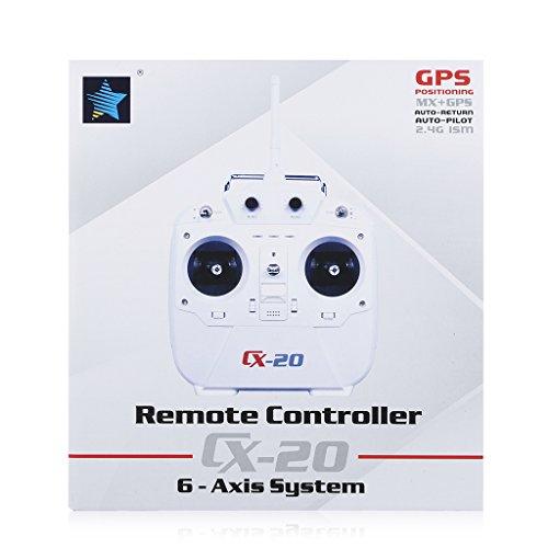 CXHOBBY CX-20 RC Quadrocopter Drohne RTF 2,4 GHz 6-Achsen-Auto-Pfadfinder UFO Flugzeug Spielzeug Heilikopter GPS IOC MX Autopilotsystem mit GoPro Kamerahalterung (ohne Kamera) Weiß