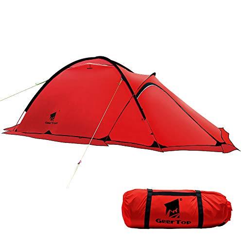 GEERTOP 20D 2-Person 4-Jahreszeiten Super Leicht Alpine Camping-Zelt (120 x 210...