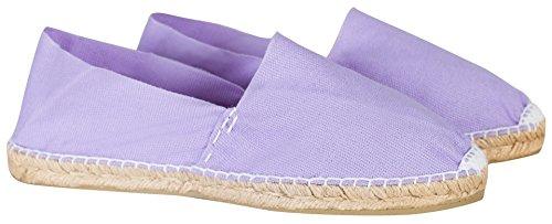 Handmade Flieder Sommerlatschen Sommerlatschen Espadrilles Unisex Flieder SL1236 Espadrilles Violett wt1ZfH