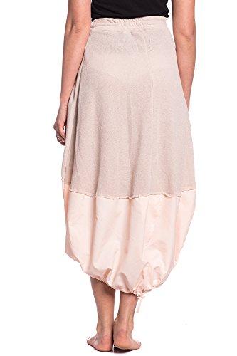Abbino 278 Röcke Damen - Made in Italy - 2 Farben - Schwingender Knielang Freizeit Übergang Frühling Sommer Herbst Sale Damenröcke Feminin Casual Sexy Fashion Classic Rosa