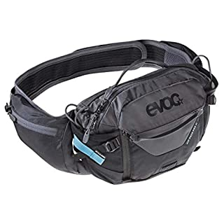 EVOC Sports GmbH HIP Pack PRO 3l + 1, 5l Bladder Hüfttasche, Black/Carbon Grey, one Size