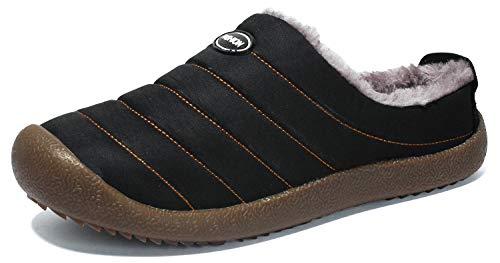 YOOEEN Hiver Pantoufles Chaud Peluche Intérieur Maison Chaussons  Imperméables Respirante Coton Chaussures d intérieur et 61cd6f7e1a7a