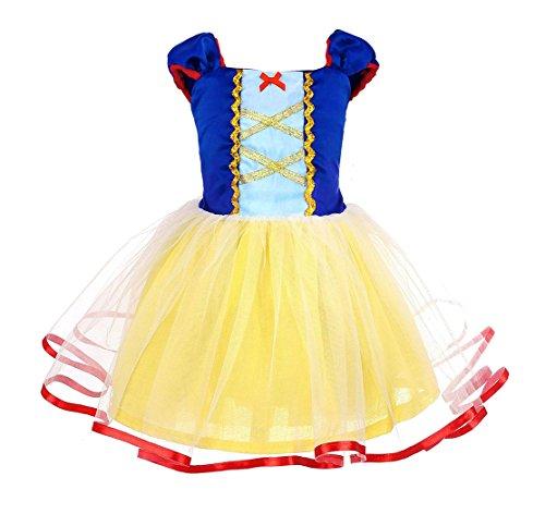 AmzBarley Blancanieve Disfraz Vestido Princesa Blancanieves Niña Tutu Ceremonia,Traje Niña,Disfraz Infantil Marga...