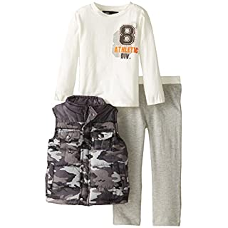 A.B.S. by Allen Schwartz Baby Boys' Camo Vest Set with Knit Pant
