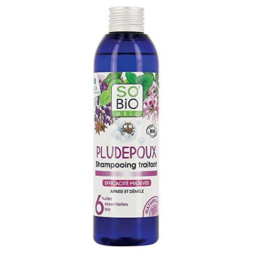 SO \'BIO ETIC - Anti Läuse Shampoo - behandelt und verhindert Pedikulose - mit abweisenden ätherischen Ölen - geprüfte Wirksamkeit - angenehmer Duft - organisch - 200 ml