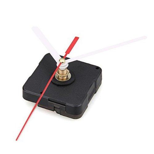 SODIAL (R) Uhrwerk-Mechanismus mit Weiss Stunde Minute Rot Sekunde Hand DIY Tools Kit