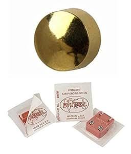 Studex Ear Piercing Mini Gold Plated Stud Earrings Traditional Plain 2mm Ball