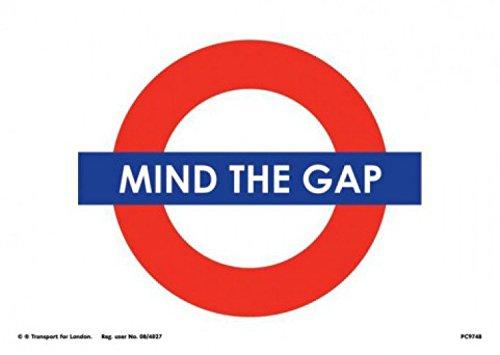 set-londres-underground-mind-the-gap-carte-postale-15x10-cm-1x-sticker-surprise-1art1r