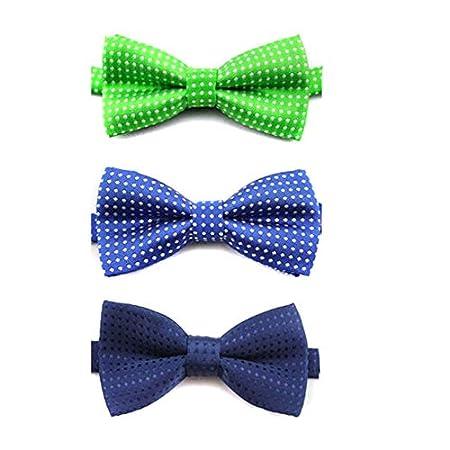 Goodplan 3 STÜCKE Stilvolle Hund Polka Dot Fliege Einstellbar Katzenhalsband mit Bowknot Decor Ziemlich Choker für Haustier Verwenden Zufällige Farbe