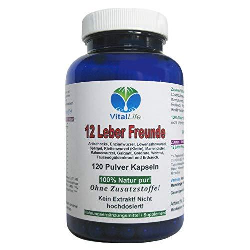 Leber & Galle 12 Leber Freunde DETOX Leberkräuter + Bitterstoffe 120 NATUR PUR Kapseln. Reinigung & Entgiftung unterstützen. 26312 -
