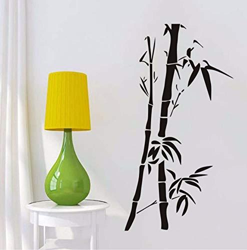 Dalxsh Chinesische Wandkunst Bambus Wandaufkleber Für Wohnzimmer Wand-dekor Abnehmbare Vinyl Tapete Posrers Home Dekoration52x29 cm