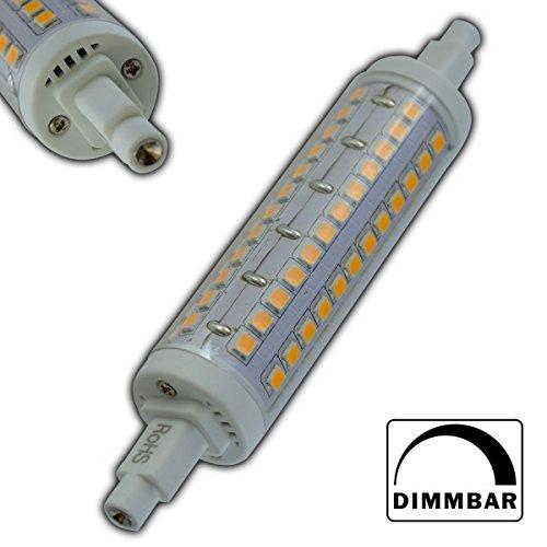 R7s LED Strahler 10 rund Watt dimmbar warmweiß 118mm Leuchtmittel Lampe Halogen j118 Fluter Standleuchte Brenner Scheinwerfer