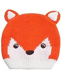 c70b6a876674 Mountain Warehouse Bonnet Enfant Hiver Fille Garçon Animaux Renard Rigolo  Tricot Orange Taille Unique