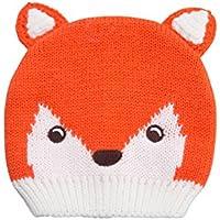 9696d4919253 Mountain Warehouse Bonnet Enfant Hiver Fille Garçon Animaux Renard Rigolo  Tricot Orange Taille Unique