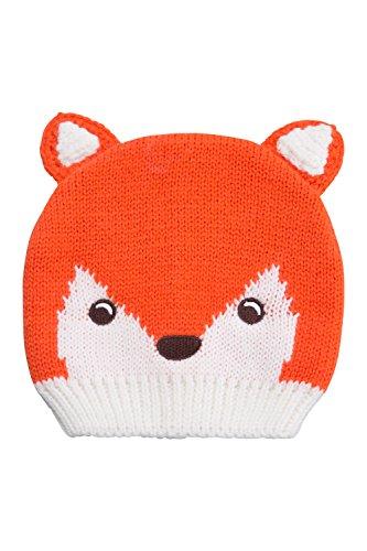 mountain-warehouse-bonnet-enfant-hiver-fille-garcon-animaux-renard-rigolo-tricot-orange-taille-uniqu