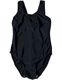 bafdc10bb6 Zeco Girls Swimming Costume School Uniform Black Navy Ages 4-13