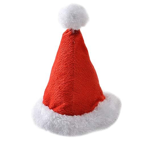 Leezo Weihnachten Pet Hüte für Kleine mittlere Hunde, niedliche Katze Welpen Hüte für Cosplay Festival Kostüm Zubehör Party Supplies