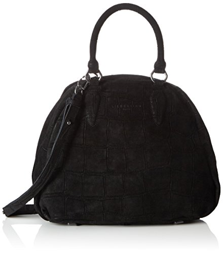 Liebeskind Berlin Damen Izumo Alliga Henkeltaschen, 41x28x16 cm, Schwarz (Schwarz (ninja black 9998) (Square Bag Handle Top)