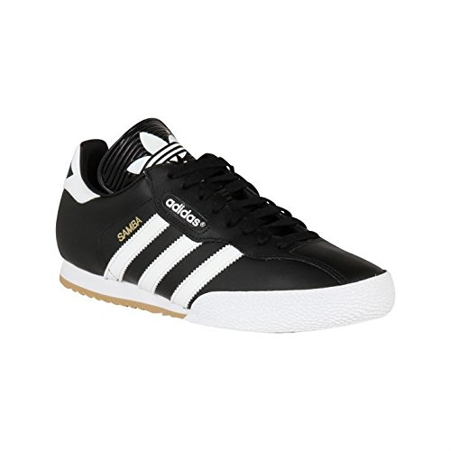 adidas Mens Samba Super Trainers Lace Up Training Leather Upper Sport Shoes Black/White UK 7.5 (41.3)