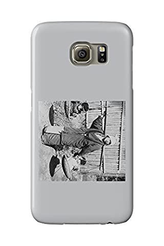 Japanese Woman with Children on a Yoke Photograph (Galaxy S6 Cell Phone Case, Slim Barely There)