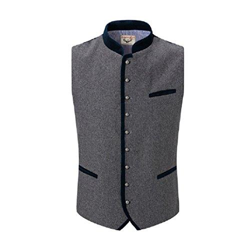 Michaelax-Fashion-Trade Stockerpoint - Herren Trachten Weste in verschiedenen Farben, Alonso, Größe:48, Farbe:Grau-Nachtblau