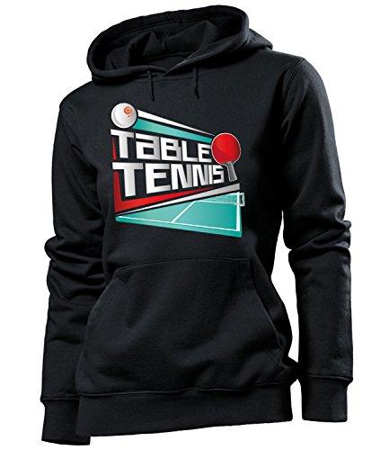 (love-all-my-shirts Table Tennis 5071 Fanhoodie Frauen Damen Hoodie Pulli Kapuzen Pullover Kapuzenpullover Sportbekleidung Sport Fanartikel Schwarz XL)