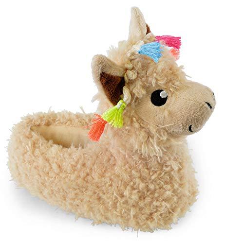 (Slumber Hut ® Mädchen und Damen Neuheit Hausschuhe - Einhorn Lama Mops Hund - Luxus Snuggle Velour Fleece Tier - Passende Kinder und Erwachsene Größen)