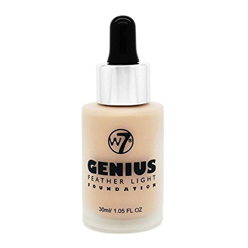 W7 Genius Feather Light Make Up Foundation, 30 ml